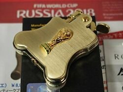 Ronson Oil Lighter Soccer World Cup Russia 2018 Fifa Official Gold Banjo New
