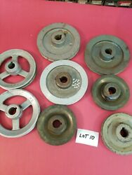 8 Aluminum And Metal Misc. Size Pulleys Lot 10 Used -free Shipping-