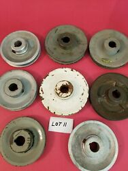 8 Aluminum And Metal Misc Size Pulleys Lot 11 Used -free Shipping-