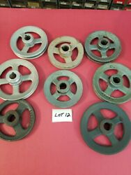 8 Misc Size And Material Spoke Pulleys Lot 12 Used -free Shipping-