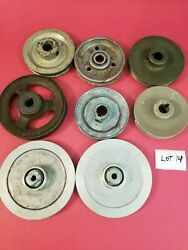8 Misc Size And Material Pulleys Lot 14 Used -free Shipping-