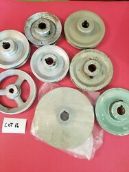 8 Misc Size And Material Pulleys Lot 16 Used -free Shipping-