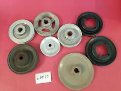 8 Misc Size And Material Pulleys Lot 17, Used -free Shipping-