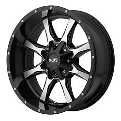 18x9 Black Machined Face Rims Moto Metal 970 2007-2021 Jeep Wrangler 5x5