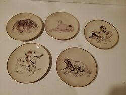 Borzoi Rare Vintage Club Of America Limited Edition Collectible Plate Set Of 5