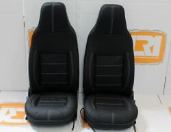 Lri Full Leather Heated Sport Front Xs Seats Runners Fits Land Rover Defender