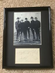 Original Rolling Stones Complete Band Autographs And Photo Display