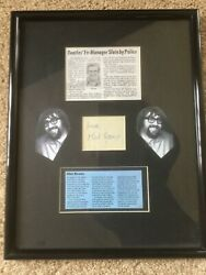Rare Mail Evans Beatles Mgr. Autograph And Photo Display.