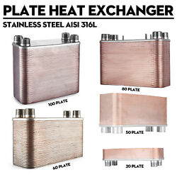 316l Stainless Steel Brazed Plate Heat Exchanger-pure Copper - Boilers Radiant