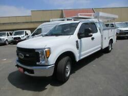 2017 FORD F250 XLT 2300 Miles WHITE 8  #39; UTILITY BED V8 6.2L; FFV AUTOMATIC