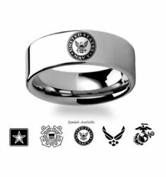 Military Wedding Rings - Army Navy Marines Air Force Or Coast Guard