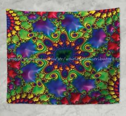 psychedelic trippy wall hanging tapestry window curtain wall art