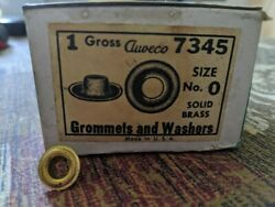 Auveco 7345 Size 0 Solid Brass Grommets And Washers Discontinued