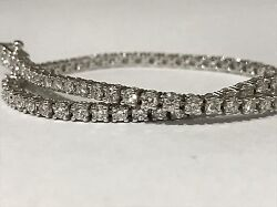 Menand039s Womenand039s Bracelet Tennis Gold Made Carats Natural Diamonds 280 Ct Bargain