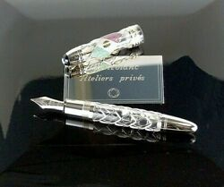 MONTBLANC MEXICO FLAG SKELETON LIMITED EDITION 1515 FOUNTAIN PEN ATELIERS PRIVE