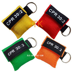 Cpr Mask With Keychain Cpr Face Shield Pocket Aed 4 Colors Writing Cpr 302