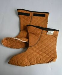 Military Insert Liner Quilted Boot Socks Interm Cold Weather Orange All Sizes