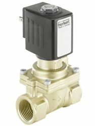 Burkert 2/2 NORMALLY CLOSED SOLENOID VALVE 40mm 230V AC Coupled, Watermarked
