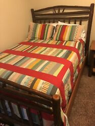 Old Hickory Wagon Wheel Full Sized Bedroom Suit