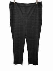 Joan Rivers Womens Regular Length Houndstooth Pull-On Ankle Pants X-Large Sz QVC