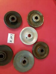 6 Misc Size And Material Pulleys Lot 18 Used -free Shipping-