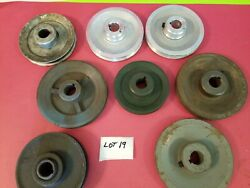 8 Lot Of Misc Size And Material Pulleys Lot 19 Used -free Shipping-