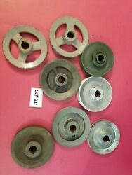 8 Lot Of Misc Size And Material Pulleys Lot 20 Used -free Shipping-