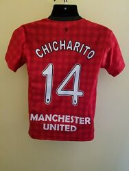 Manchester United Javier Hernandez Chicharito Used Soccer Jersey Youth Size M-l