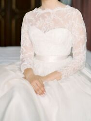 7995 - Marchesa Wedding Dress Lace Gown - Size 2 / Xs -andnbsp Worn Once