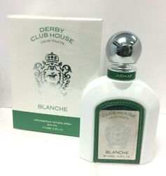 Derby Club House Blanche By Armaf 3.4 Oz Edt Menand039s Cologne No Cellophane Wrap