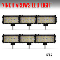 2019 New Quad Row 7Inch Led Work Light Bar Spot Offroad For Jeep Truck 3 Pairs