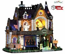 Lemax Spooky Town Lighted Building Crowley Hall Halloween Tabletop Decor Gift