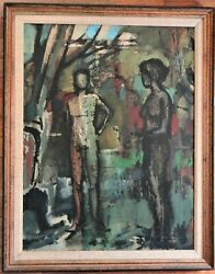 Hennessey, 1920-1998 Abstract Nudes In Woodlands Dated 1981 Oil On Canvas