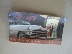 Original 1954 Plymouth Cars Advertising Booklet