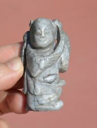 19c Chinese Chicken Jade Nephrite Carved Carving Boy Figure Figurine