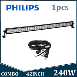 Philips 42inch 240w Led Work Light Bar Flood Spot Combo Trailer Offroad+wiring