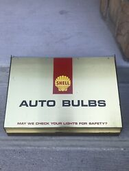 Vintage Shell Oil Advertising Sign Light Bulb Counter Display Sign