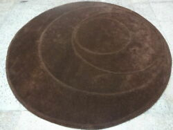 Indian Thick Soft Hand Tufted Round Modern Designer Wool Carpet Area Rug Rugs
