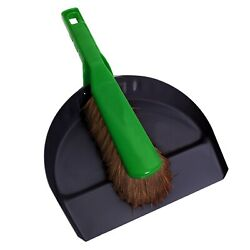 Sabco Premium Metal Dustpan And Brush Set Heady Duty, Ideal For Garden Use