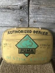 Vintage Hunting Knife Advertising Store Sign