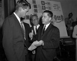 Jimmy James Hoffa Bobby Kennedy Glossy Poster Picture Photo Banner Teamster 4056