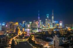 Shanghai China Skyline Glossy Poster Picture Photo Banner Oriental Pearl 3765