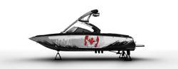 Graphic Kit Decal Boat Sport Wrap Seadoo Wake Board Punisher Can Flag 26ftx3ft