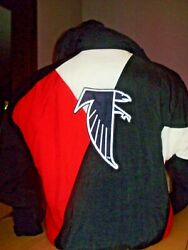 Vintage 1990and039s Apex One Atlanta Falcons Winter Jacket Huge Back Patch Large