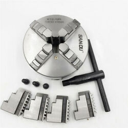 4 4jaw Metal Lathe Chuck Self-centering K12-100 100mm Jaws And Wrench Cnc Center