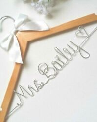Personalized Handmade Name Hanger Custom for Weddings Brides Bridesmaids etc $21.99