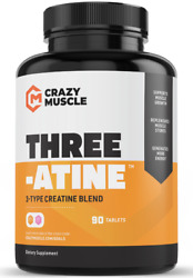 Crazy Muscle® Creatine Monohydrate Pills [proven] Muscle Building Supplement ✅✅