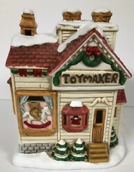 Rare 1990 Lefton Colonial Village Toy Maker Toymaker House Byron Wood Christmas