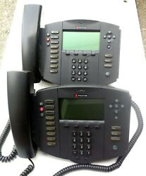 2x Polycom Soundpoint Ip501 Sip W/ Lan/power Cable Ac Adapter Stand And More