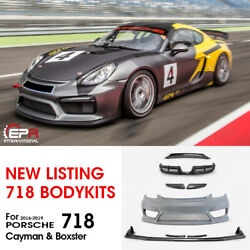 For 2016+ Porsche Boxster 718 Cayman 982 GT4 Type Carbon Wide Body All Body Kits